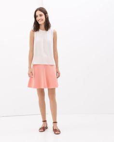 Image 1 of FLARED MINI SKIRT from Zara