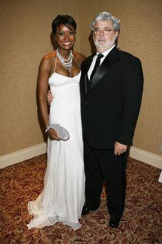 Congratulations - Star Wars Maker George Lucas and Mellody Hobson of DreamWorks Get Engaged