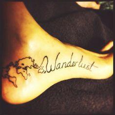 Wanderlust tattoo by Joy Shannon