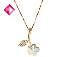 Aliexpress.com : Buy Free Shipping (No Min Order) Neoglory MADE WITH SWAROVSKI ELEMENTS Crystal Alloy 14k Gold Plated Flower Gold Necklaces for Women from Reliable gold necklaces suppliers on NEOGLORY JEWELRY