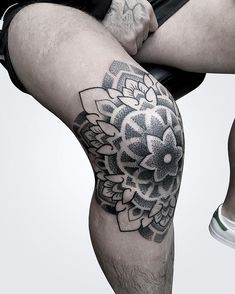 floral mandala knee tattoo \ floral knee tattoo & floral knee tattoo traditional & floral knee tattoo flower & floral knee tattoos women & above knee tattoo floral & floral mandala knee tattoo & knee tattoos floral & floral under knee tattoo Knee Tattoo, Leg Sleeve Tattoo, Leg Tattoo Men, Leg Tattoos, Black Tattoos, Body Art Tattoos, Tattoo Art, Rose Tattoos For Men, Half Sleeve Tattoos For Guys