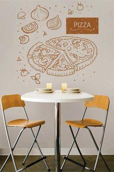 Italian Restaurant Logos, Pizza Restaurant, Logo Restaurant, Restaurant Interior Design, Shop Interior Design, Chalkboard Restaurant, Pizza Store, Pizzeria Design, Pizza Logo