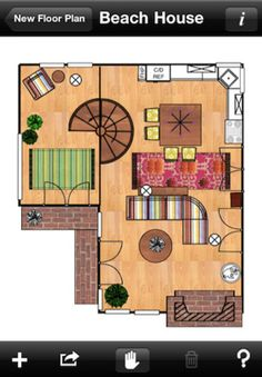 Home Design Interior Space Planning App. You can even take a picture of fabric and finishings and insert them on floor plans.