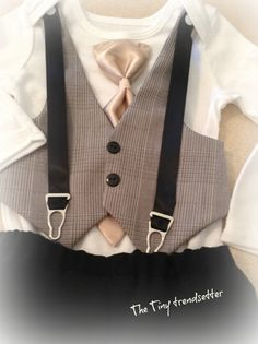 Dashing Little Man/ Baby Boy Suspendered by TheTinyTrendsetter