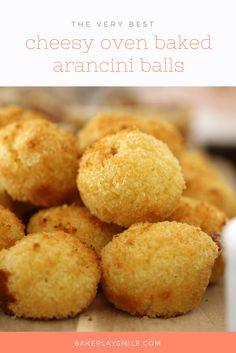 Cheesy Oven Baked Arancini Balls image