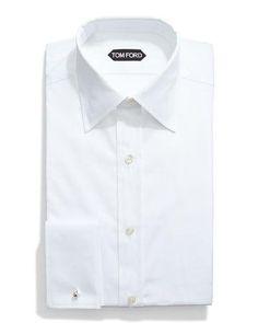 TOM FORD Basic French Cuff Dress Shirt, White. #tomford #cloth #