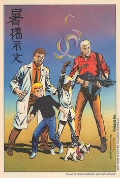 Jonny Quest pinup by Brent Anderson & Tom Vincent