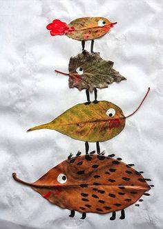 Herbstdeko basteln -DIY Bastelideen - Blatt Tiere basteln mit Kindern Source by diydekoideen crafts Kids Crafts, Projects For Kids, Diy For Kids, Art Projects, Arts And Crafts, Autumn Art Ideas For Kids, Leaf Projects, Kids Nature Crafts, Autumn Crafts Kids