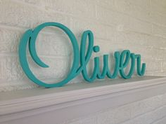 Wooden Letters, Personalized Name, Script Font, Beautifully Connected Letters, Your Custom Name and Color