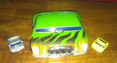 Phat Boyz Car Carrier Car and 2 Phat Boyz mini cars, 2003 GREEN