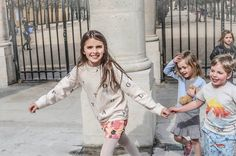 Spring in Paris! We spy our Rose wrap cardigan & Sylvie dress - LOVE! Thank you Les Enfants a Paris for this amazing shot!