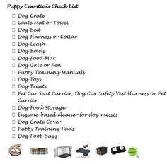 NEW PUPPY SHOPPING LIST -- must have essentials for your new pup This checklist will help new owners get everything they need to provide and care for their new puppy. Modern Dog Supplies, Small Pet Supplies, Puppy Supplies, Puppies Tips, Small Puppies, Puppies Puppies, New Puppy Checklist, Dog Food Mat, Puppy List
