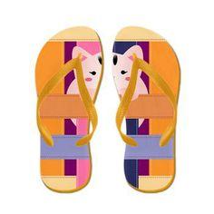 Colorful Elegant Flip Flops