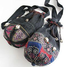 china hat antique bag