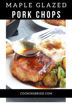 Maple glazed pork chops,seasoned with chili powder, cayenne, and maple syrup glaze, is an easy one pan meal ready in less than 30 minutes. Pork Chop Recipes, Quick Recipes, Quick Meals, Glazed Pork Chops, Pork Loin Chops, Maple Glaze, Maple Syrup, Pork Chop Seasoning, Dinner Ideas
