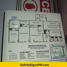 Deliver a safe and clear egress route to building occupants with our customized photoluminescent evacuation p. Emergency Evacuation Plan, Firefighter Photography, Container Buildings, Philippines, Maps, How To Plan, Manualidades, Map, Cards