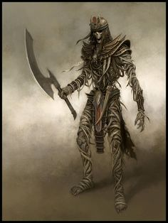 Mummy Warriors, one of the many guardians of the halls of the Sin Forge
