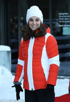 Kate ascended to the top of ski jump to watch talented junior skiers from Norway's nationa...