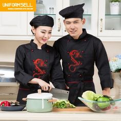 Dragon, China, Restaurant Uniforms, Chinese Restaurant, Blouse, Coat, Chef Clothing, Chef Jackets, Trousers