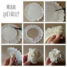 Tortapapírból! Még több dekorációs ötlet: http://otletes.blogspot.hu/search/label/Dekorációk