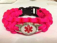 Custom Paracord Medical Alert Bracelets via Etsy
