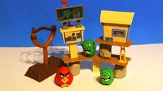 This slingshot playset just released at toy stores and it is really fun to play and build. There are so many ways to build the Pig city and use Angry Red bir. Bird Toys, Slingshot, Angry Birds, Toy Store, Action, City, Fun, Group Action, City Drawing