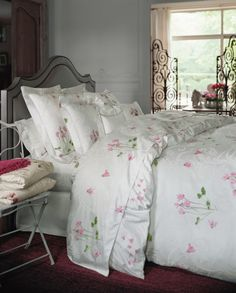 gorgeous linens by Yves Delorme in English Home