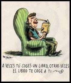 A veces el libro te coge a ti