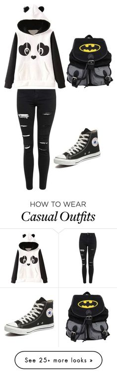 """Casual"" by jhuemaecahegaspar on Polyvore featuring Topshop, Garcia, Converse, women's clothing, women's fashion, women, female, woman, misses and juniors"