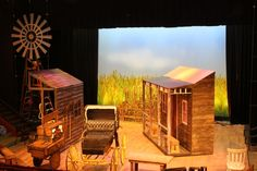 """The stage sets for """"Oklahoma"""""""