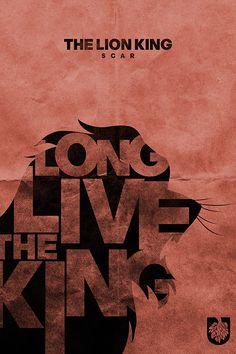 Design Studio Creates Typographic Posters Of 'The Lion King' - DesignTAXI.com
