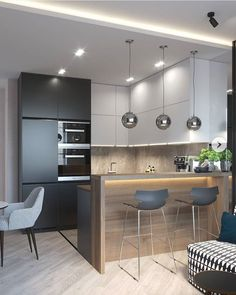 Modern Apartment Kitchen Designs - The Best Modern Kitchens Kitchen Interior Design Modern Kitchen 1649 Cozy Modern Apartment In Poland Etc With Images China New Modern Apartment Design. Kitchen Room Design, Best Kitchen Designs, Kitchen Sets, Home Decor Kitchen, Interior Design Kitchen, Modern Interior Design, Decorating Kitchen, Kitchen Themes, Decorating Tips