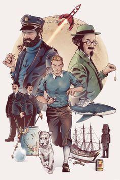 'Les Aventures de Tintin' [Revisitées Version Comic-Book] - #Tintin #hergé #casterman #haddock #tournesol #dupontetdupond #reporter #castermanbd #comicstyle #comics #artwork #drawing #drawer #artist #creation #creative #artbook #tribute #Milou #snowy #sketch #character #lelotusbleu #unicorn #rackhamlerouge #arumbaya #comicbook #art #illustration