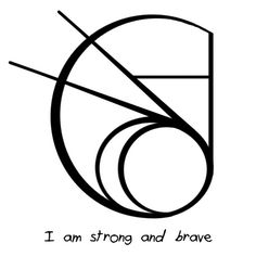 """Anonymous said: Hi I'm not sure if you've done this sigil before but can you do one for """"I am strong and brave"""" please? Answer: """"I am strong and brave"""" sigil Wiccan Symbols, Magic Symbols, Symbols And Meanings, Spiritual Symbols, Viking Symbols, Zibu Symbols, Egyptian Symbols, Viking Runes, Ancient Symbols"""