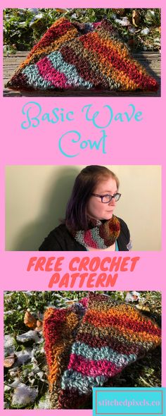 Free beginner crochet pattern - Every project I make with Lionbrand Landscapes turns out more and more stunning! I just love the colorways. The fall colors really make the pink and blue/grey sections stand out even more.