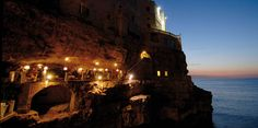 Hotel and restaurant at a sea cave. Amazing. Romantic. Probably never happening.