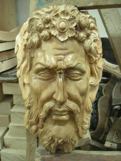 Wood Carving '' Greek ""