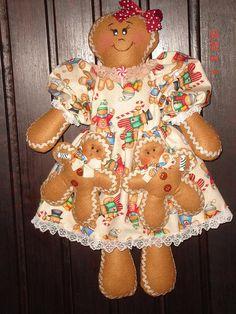Mamãe Ginger  by Arte em Pano...Pano com Alma e Coração, via Flickr