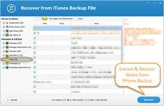 iPhone notes disappeared or lost? This page explains how to extract and recover notes from iPhone backup made by iTunes.
