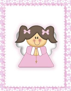 PRIMERA COMUNION TEMA ANGELITA (dejé los formatos originales para editar) Angel Clipart, Angel Vector, Baptism Cookies, Jesus Pictures, Baby Shower, First Holy Communion, Christmas Activities, Embroidery Art, Cute Drawings