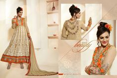 Anarkali Style Brown with Patch Work Incredible Unstitched Salwar Kameez