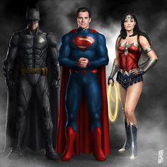 Zack Snyder Justice League, Justice League Comics, Dc Heroes, Comic Book Heroes, Batman And Superman, Supergirl Superman, Batman Stuff, Dc Trinity, Batman Wonder Woman