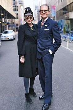 Ari Seth Cohen's book Advanced Style: Older & Wiser is chock full of stylish older couples—here are our favorites. Glamour, Ari Seth Cohen, Style And Grace, My Style, Stylish Older Women, Older Couples, Stylish Couple, Mature Fashion, Advanced Style