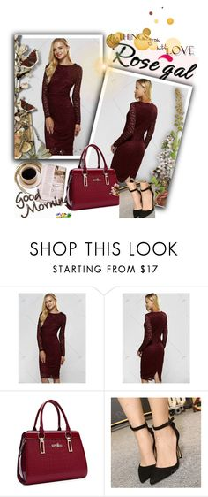 """""""Red dress,Rosegal 31."""" by sajra-de ❤ liked on Polyvore"""
