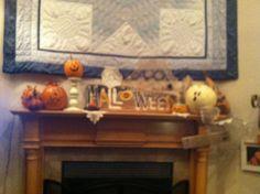 My Mumsie's mantel decor!