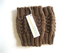 Knitted Boot Cuffs  Leg Warmers  Chestnut Brown by hilaryfrazier, $36.00