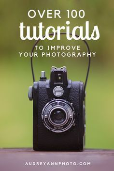 Great site for photography tutorials! Over 100 photography tutorials including beginner photography tips, shooting in manual mode, focus, lighting, composition and editing.