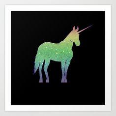 glittercorn Art Print by Shanna Dunn - $16.64