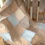 Rag Quilt With Frayed Edges - A great tutorial with some ideas on batting