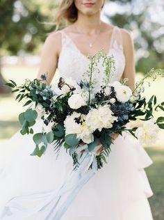 Traditional Blue-Hued Wedding in California - http://www.stylemepretty.com/2016/11/09/something-blue-california-wedding/